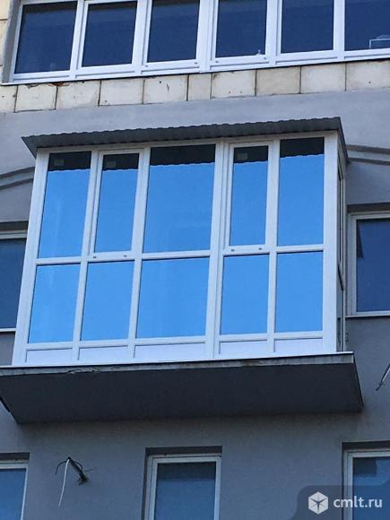 Остекление лоджий и балконов. Окна ПВХ. Внутренняя и внешняя отделка балконов, лоджий.. Фото 1.
