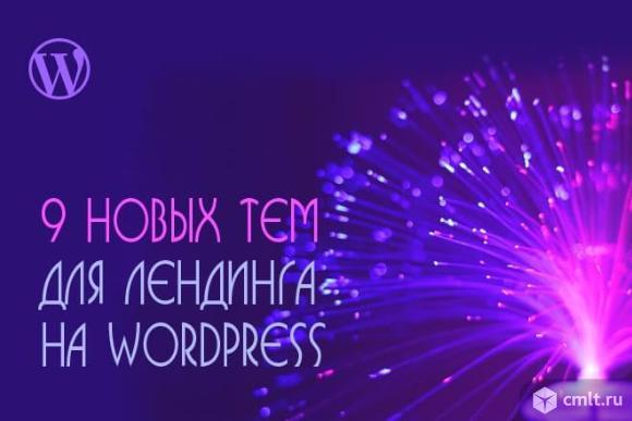 Предлагаю 9 новых тем (Wordpress) для создания лендинга. Фото 1.