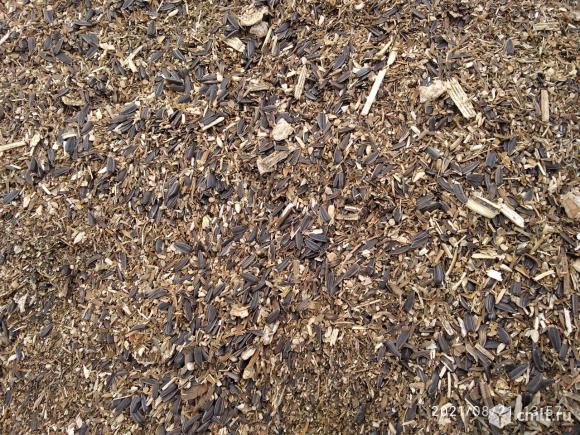 Отходы от подсолнечника. Фото 1.