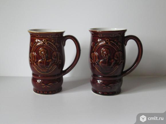 Воронежские сувенирные кружки керамика 1970 г.. Фото 1.