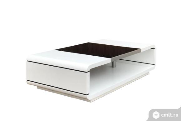 стол журнальный стеклянный белый corso paoli