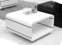 столик журнальный дизайнерский. белый глянец, квадратный opus quadro paoli