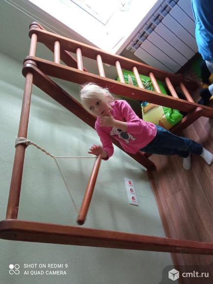 Детская горка+лестница+кольца+канат. Фото 2.