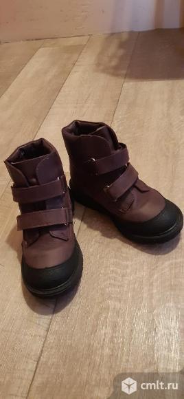 Кожаные ботинки на девочку. Фото 1.