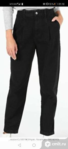Джинсы Colins  женские  slouchy черного цвета новые 50 размер. Фото 1.