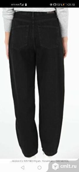 Джинсы Colins  женские  slouchy черного цвета новые 50 размер. Фото 2.