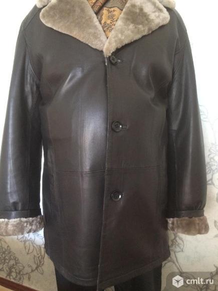 Кожаная натуральная куртка на меху. Фото 1.