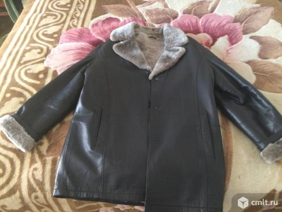 Кожаная натуральная куртка на меху. Фото 4.