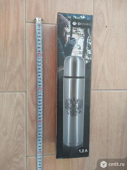 Термос 1.2 литр из нержавейки. Фото 1.