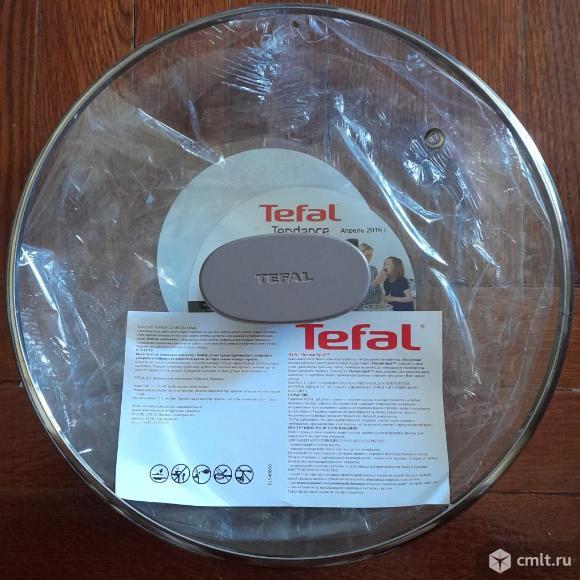 Новая оригинальная стеклянная крышка  Tefal 24 см. Фото 1.