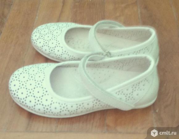 Туфли белые узорные. Фото 1.