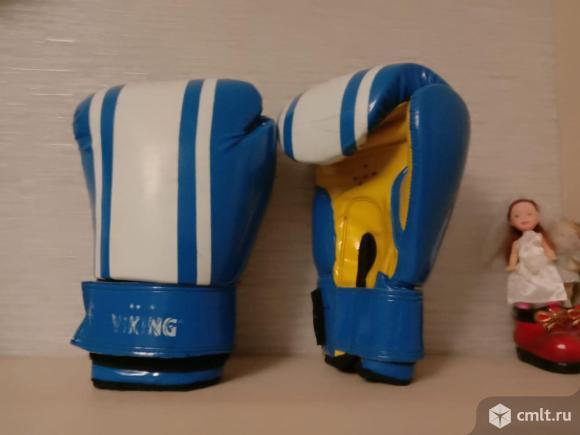 Боксерские перчатки для школьника, 8 унций, б/у, 550 р. Фото 1.