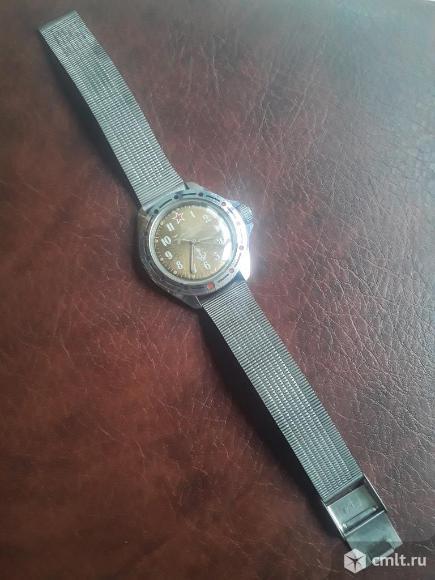 Часы Командирские с браслетом. Механические. Якорь. Фото 1.