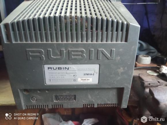 Телевизор кинескопный цв. RUBIN рубин. Фото 2.