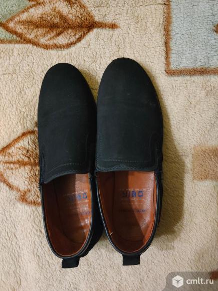 Туфли (нубук по стельке 23,5 см ). Фото 1.