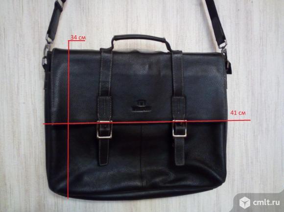 Мужская сумка-портфель LAREBOSS, натуральная кожа. Фото 7.