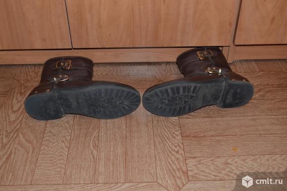 Полусапожки, коричневые с пряжками. Фото 3.