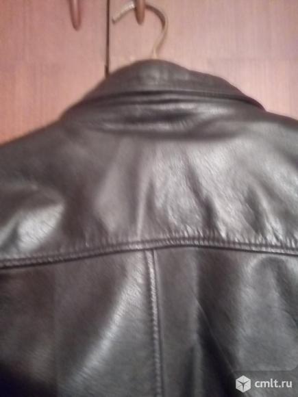 Кожаная куртка черная б\у. Фото 4.