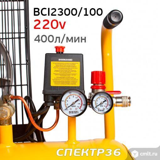 Компрессор ременной Denzel BCI2300/100 (220В, 2.3кВт, 400л/м. Фото 6.