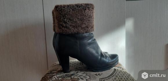 Ботинки из натуральной кожи 39 размера. Фото 5.