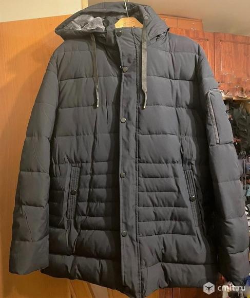 Мужская зимняя куртка 64-68 р-р(новая). Фото 1.