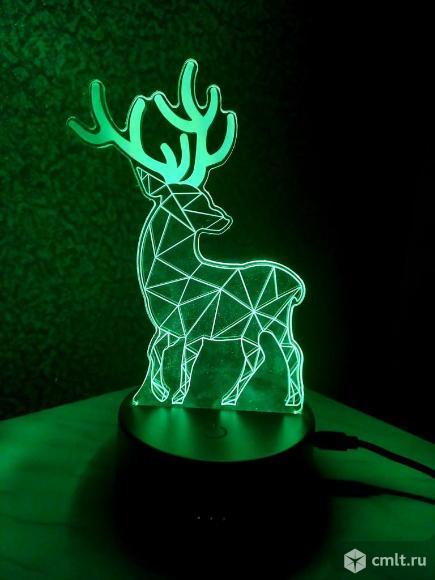 Ночник Светильник Лампа Фонарь в виде оленя. Фото 6.