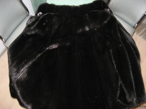 Шубка из натуральной черной норки/цельные шкурки. Фото 1.