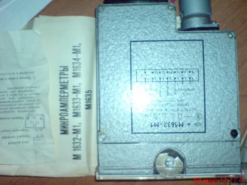 Микроамперметр М1632-М1. Фото 1.