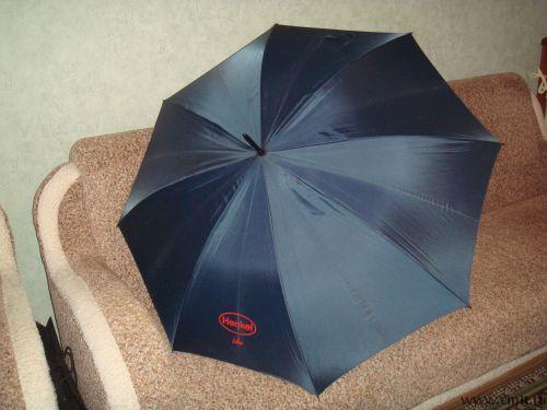 Зонт трость мужской новый, цвет темно синий.
