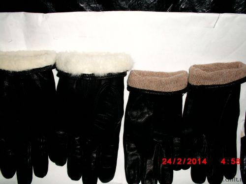 Продам кожанные перчатки и меховые варежки. Фото 1.