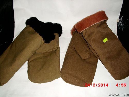 Продам кожанные перчатки и меховые варежки. Фото 4.