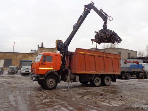 Ломовоз КАМАЗ с манипулятором, 15 т, 30 куб.м, самосвал. Погрузка, вывоз деревьев, крупногабаритного бытового мусора. Перевозка металлолома, сыпучих грузов. Нал, безнал. Дешево.