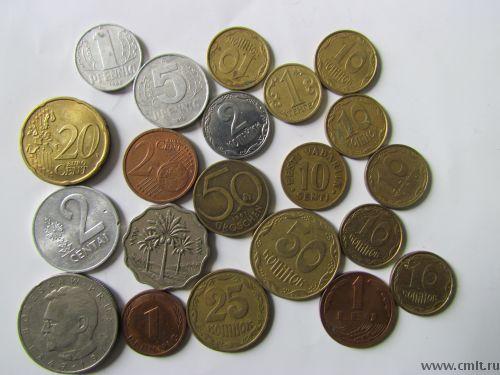 Иностранные монеты. Фото 1.