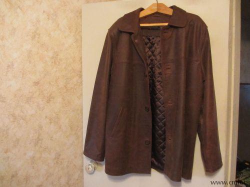 Продам новую кожаную куртку. Фото 1.