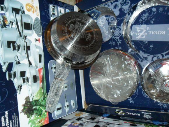 Ножи металло-керамика 6шт.+кортчистка,в подарочной упаковке
