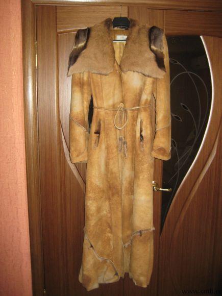Продается женский кожаный плащ