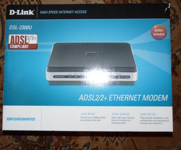 Adsl модем D-Link DSL-2300U