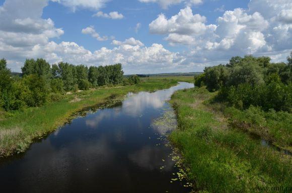 Река Битюг в километре от дома.