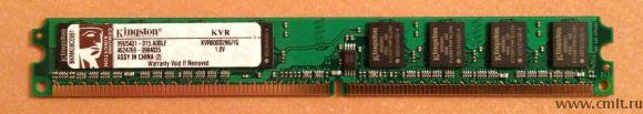 Kingston Модуль памяти DDR2 1GB KVR800D2N6/1G. Полностью работоспособная. Продаем так как купили новую большего объёма. Самовывоз из Северного района