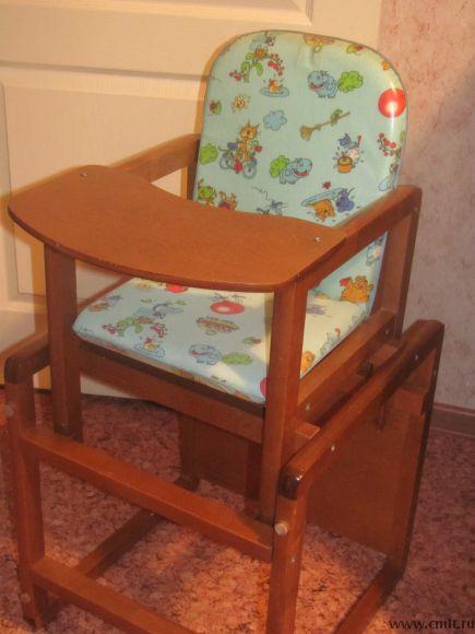 Стол-стул для кормления, детский, деревянный