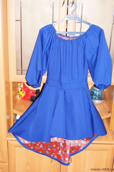 Продаю короткое платье со шлейфом
