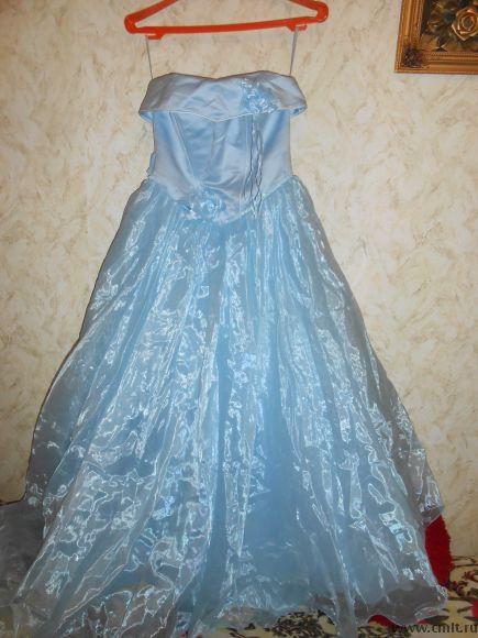 Продам длинное выпускное платье. Фото 1.