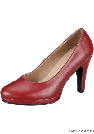 Туфли новые, цв. красный, р. 36, высота каблука 8.5 см. Фото 1.
