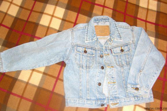 Курточки джинсовые р-р 128