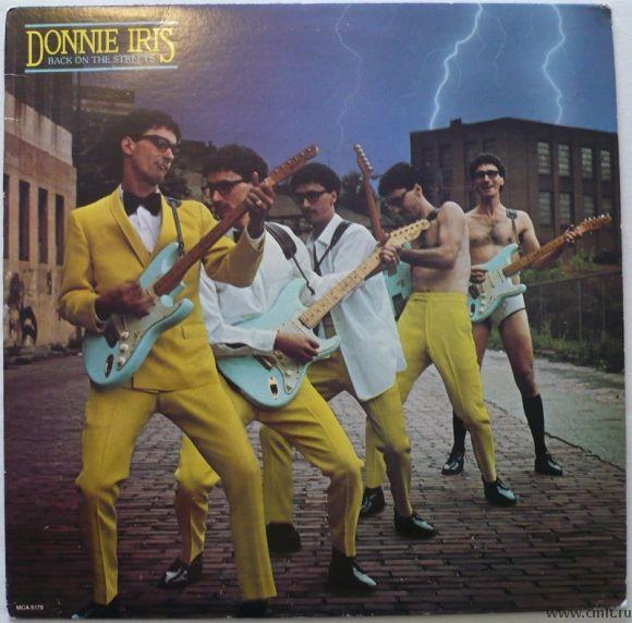 Грампластинка (винил). Donnie Iris. Back On The Streets. (c)(p) 1980 MCA Records, Inc. MCA-5179. США. Фото 1.