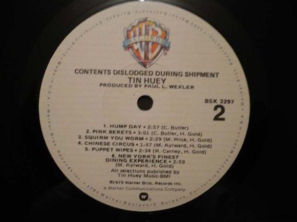 Грампластинка (винил). Tin Huey. Contents Dislodged During Shipment. 1979 Warner Bros. BSK 3297. США. Фото 6.