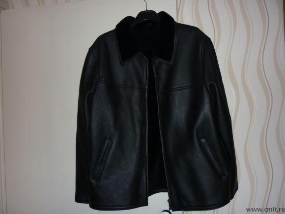 Продаю новую мужскую кожаную куртку пр-во Турция на меховой подкладке. Фото 1.