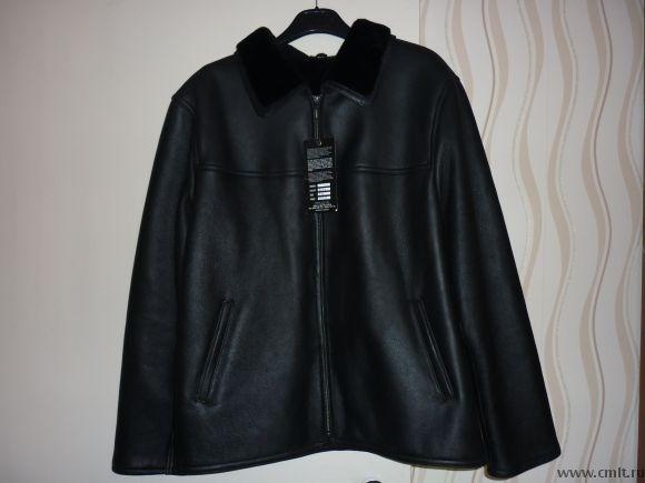 Продаю новую мужскую кожаную куртку пр-во Турция на меховой подкладке. Фото 3.