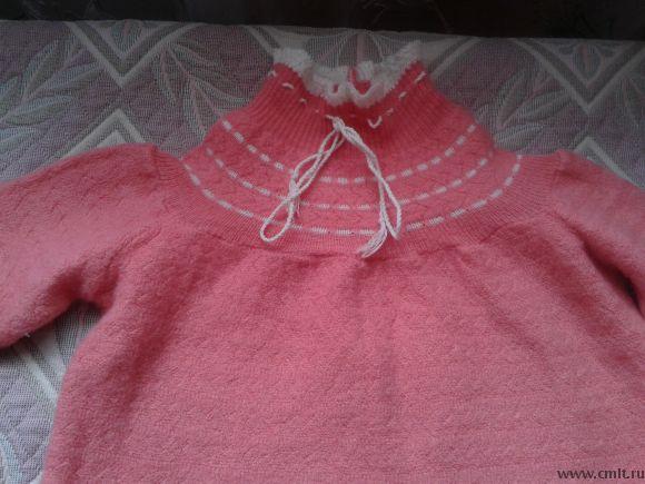 Платье шерстяное р.74-80