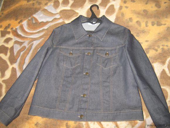 Куртка джинсовая р.48-50. Фото 2.